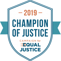 badge champion of justice 2019