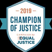 badge champion of justice 2019